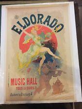 MUSIC HALL JULES CHERET POSTER AFFICHE ELDORADO SIGNE LITHOGRAPHIE ORIGINALE