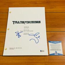 TRANSFORMERS SIGNED FULL MOVIE SCRIPT BY SHIA LABEOUF & MEGAN FOX w/ BECKETT COA