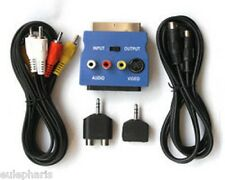 Kit 5 piezas,Super video+RCA 3+Euroconector in-out+jack 3.5 a RCA+jack a 2 jack