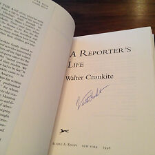 A Reporter's Life - SIGNED by Walter Cronkite First Edition 1996 Hardcover