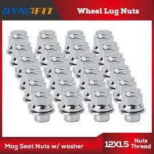24pc Lug Nuts Mag Seat 12x1.5 Black Fits Toyota Tacoma FJ Cruiser Tundra Sequoia