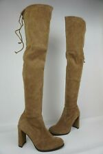 Stuart Weitzman Hiline Nutmeg Brown Suede Over The Knee OTK Boots Size 8.5 M