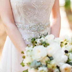 UK Luxury Vintage Crystal Bridal Sash Rhinestone Pearl Bride Wedding Dress Belt