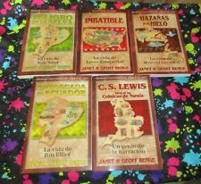 5 Heroes Cristianos De Ayer y De Hoy Spanish Book Lot Janet & Geoff Benge C.S. L