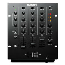 "Numark M4 Black Professional 3-Channel Scratch DJ Mixer Mic Input + EQ 10"" Rack"