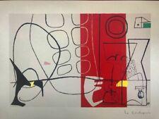 Le Corbusier - Cortège (Cortège), Lithographie 1970,40X29 Mourlot Frères Paris