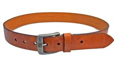 """TOMMY BAHAMA Belt Tan/Brown PALM LEAF EMBOSSED 1 3/8"""" Wide LEATHER 32 Waist $88"""