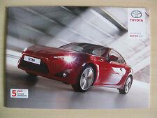 Toyota GT86 UK Sales Brochure   (2012)