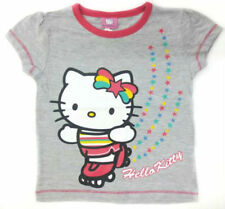 Vêtements T-shirt gris Hello Kitty pour fille de 2 à 16 ans