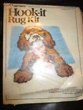 Vogart Crafts Vintage Puppy Dog Latch Hooking Rug Canvas Kit -1970's