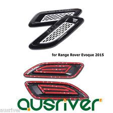 2Pcs Bonnet Exterior Car Air Outlet Vent Trim Cover for Range Rover Evoque 2015