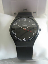 SKAGEN WATCH SKW6113 MEN'S GRENEN BLACK DIAL STAINLESS STEEL BNWT DENMARK