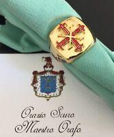 Anello dell'Ordine Costantiniano di San Giorgio in argento