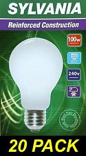 10 X 100w Light Globes / Bulbs E27 Screw Incandescent Warm White Dimmable A60