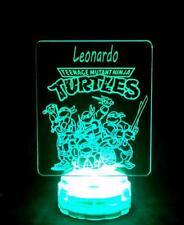 Teenage Ninja Turtles LED Personalised Name Night Light Mood Lamp for Kids Room