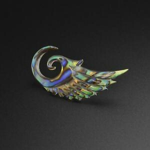 Shell Spiral Ear Gauge Stretcher Abalone Shell Angel Wing SIBJ Quality