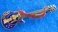 LAS VEGAS HOTEL POKER CARD SUITS ROYAL BLUE GIBSON GUITAR Hard Rock Cafe PIN