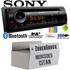 Autoradio Sony Bluetooth | DAB+ | CD/MP3/USB Einbauset für Mercedes Citan W415