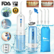 Water Flosser Oral Irrigator Rechargeable Cordless Dental Tooth Cleaner 5 Jets