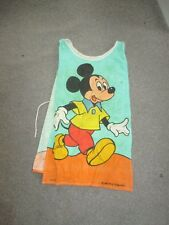 Vintage Disney childs cotton apron- Made In Britain-Donald Duck, Mickey Mouse