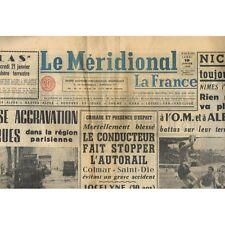 Le MÉRIDIONAL 19 Janvier 1959 Bouillargues Sommières Pujaut La Bastide d'Engras