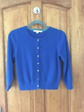 Boden ladies Cashmere cropped cardigan size 12 in blue colour