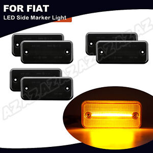 Für Fiat Ducato 2001-2019 LED Seitenmarkierungsleuchte 6X Gelb Licht Geräucherte