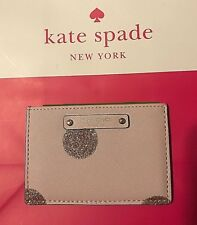 Kate Spade Authentic Haven Lane Pink Glitter Dot Card Cash ID Holder NWT
