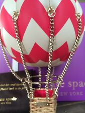 """LAST ONE! KATE SPADE NEW YORK """"FLIGHTS OF FANCY BALLOON"""" LEATHER CLUTCH, NWT"""