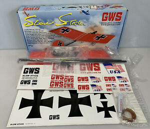 GWS NPS Slope Glider For Beginner Slow Stick R/C Airplane Kit  Slowstick Opened