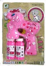 LIGHT UP DOG BUBBLE GUN WITH SOUND endless toy bottle bubbles maker machine NEW