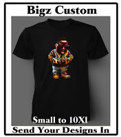 Bigz Custom Cartoon Graphic Tee Shirt Big and Tall or Small Pro Club T shirts