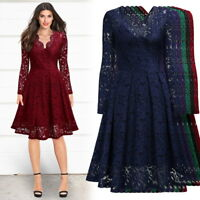Women's Long Sleeve Lace Dress For Formal, Cocktail and Evening Wear