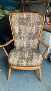 Ercol 478 tall back chair Blonde