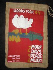 Woodstock '94 Large Burlap Sack/Bag RARE