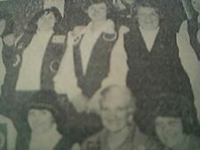 ephemera 1977 - picture lancashire ladies darts team blackpool