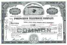 Porto Rico telephone New York Puerto Rico ITT 1960 MERRILL LYNCH Pierce 1 Share