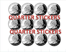 12  25 cent  QUARTER Vending Price Stickers vendstar candy gumball