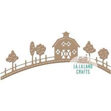 Country Hill Farm Barn Die Cutting Die by La La Land Crafts DIE 8294 New