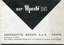 LIBRETTO USO MANUTENZIONE MOTO AER MACCHI125 AERONAUTICA VARESE