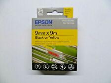 EPSON Tape Cassette LC-3YBP9 schwarz auf gelb 9mm 9m LabelWorks OVP
