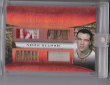2016 NORM ULLMAN ULTIMATE EQUIPMENT QUAD GAME USED MEM! #5/9! DETROIT RED WINGS!
