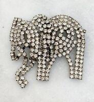 schöne bewegliche Elefanten Brosche - Modeschmuck - Strass