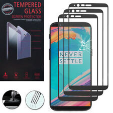 "3X Tempered Glass for One Plus 5T A5010 6.01 "" Genuine Screen Protector Black"