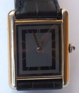 Original Vintage Cartier Must de tank watch