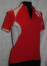 Briko US Sz M Cycling Jersey Half Zip Top Red Bike Bicycle Womens Shirt
