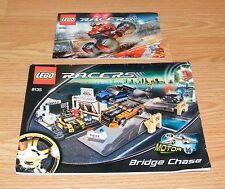 LEGO Instructions Booklets (8135 & 9092) for Racers Bridge Chase & Crazy Demon