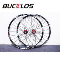 "BUCKLOS 26"" 27.5"" 29"" QR/Thru Wheel Carbon Hub MTB Wheelset Set (Front & Rear)"