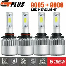 9005+9006 Combo LED Headlight Bulb 32000LM High + Low Beam Super White 6000K Kit