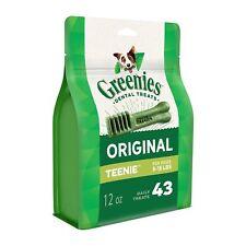 Greenies Original Teenie Size 43 count 12 oz   Dental Chew Treats for Dogs